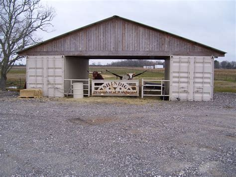 isbu shipping container livestock barn order two cargo