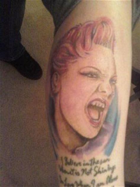 tattoo pink lyrics 3 kinda weird pink fan tattoos