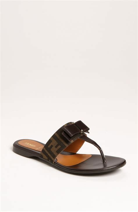 fendi flat shoes fendi crayons logo flats in brown lyst