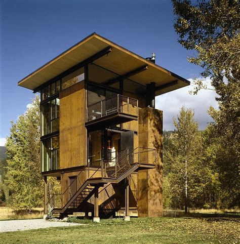 cool cabin ideas adaptable prefab cabin retreat with cool operable windows