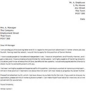 social worker cover letter exle lettercv