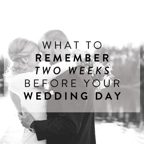 Detox 2 Weeks Before Wedding by Dear Sweetheart Eventswhat To Remember Two Weeks Before