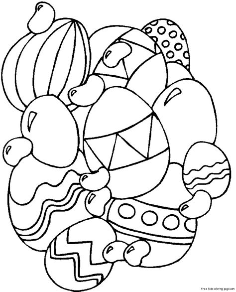 Print Out Easter Eggs Coloring Page For Kids Free Easter Coloring Pages To Print Out