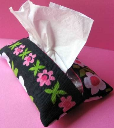 Handmade Tissue Holder - how to make a pocket tissue holder