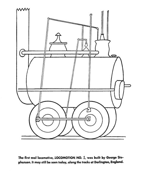 coloring page railcar train history coloring pages trains and railroad history