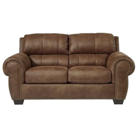 Ashley Burnsville Faux Leather Loveseat In Espresso 9720635