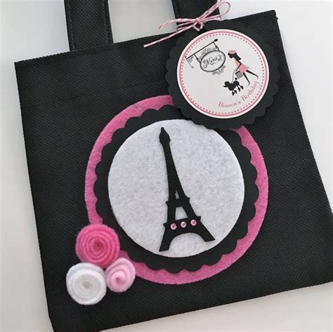 themed gift bags set of 12 paris theme party favor bags with personalized thank