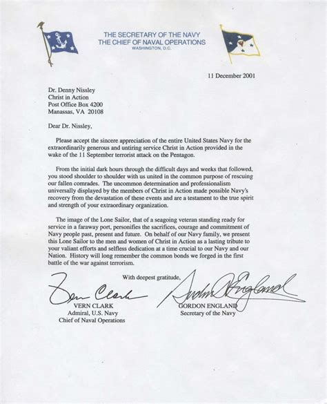letter of appreciation navy award points bringing to america s families in