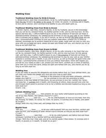 non religious wedding ceremony template traditional wedding ceremony weddinginclude wedding