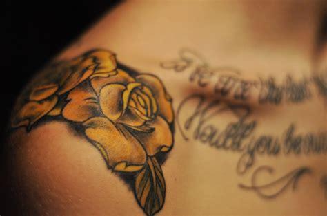 mens rose shoulder tattoo archives tattoou