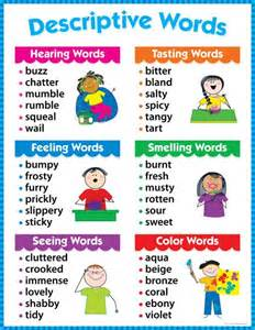 descriptive words chart gr 1 3 ctp4171