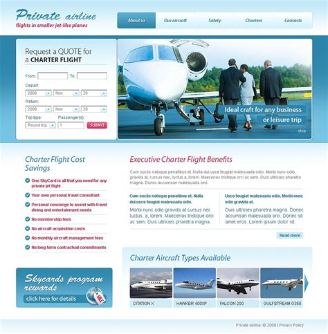 Airline Tickets Website Template 23010 Airline Website Template