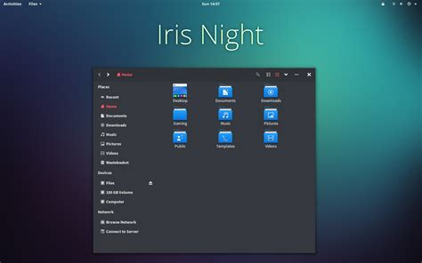 gnome themes for redhat 6 iris night gtk theme v1 1 by thevirtualdragon on deviantart