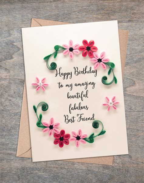 present best friend birthday card