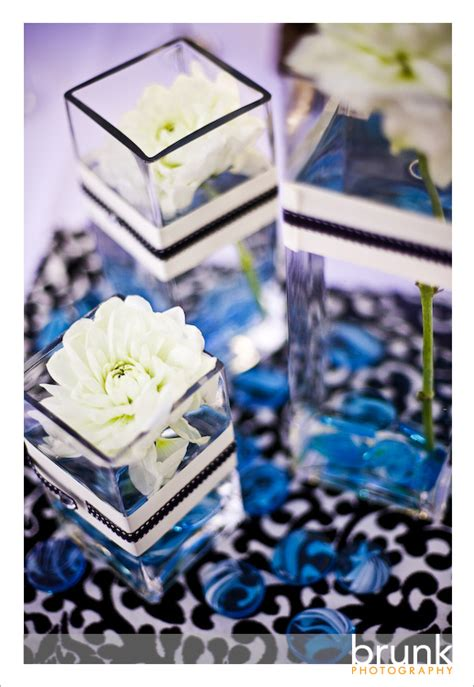 bridal style and wedding ideas wedding with royal blue centerpieces
