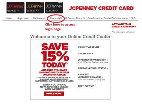 jcpenney credit card payment make payment jcpenney credit card payment login