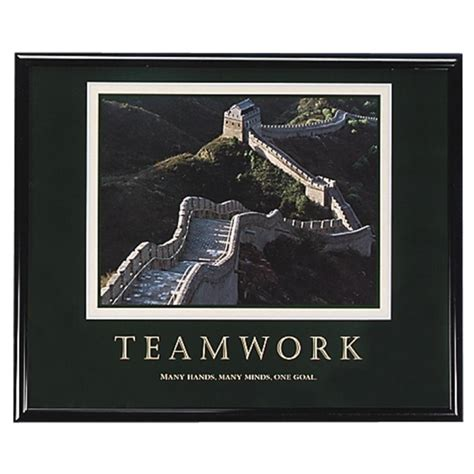 Frame Quotes Motivational Poster Work Big 4r ship quotes about teamwork quotesgram
