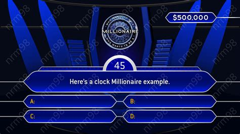 Who Wants To Be A Millionaire Template Google Slides Millionaire Powerpoint Template With Sound