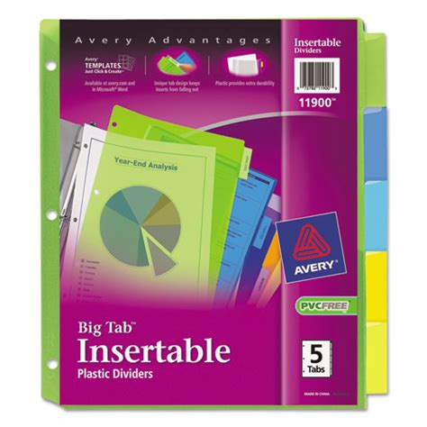 staples 5 large tab insertable dividers template insertable big tab plastic dividers 5 tab letter