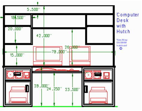 Plans For Computer Desk And Hutch by Woodware The Hutch Computer Desk