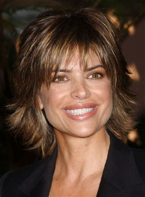 layers sideswept bangs lisa rinna shag hairstyles for square faces beauty riot