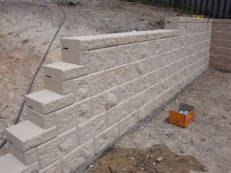 concrete blocks for garden walls australian retaining walls heron concrete block retaining