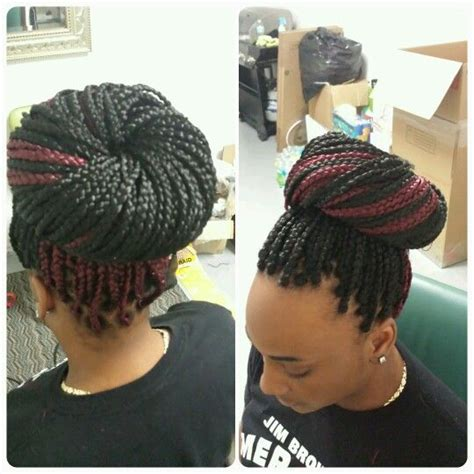 burgundy box braids black and burgundy box braids beauty hair pinterest