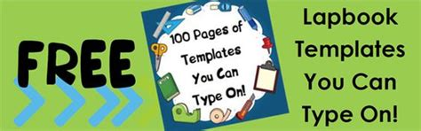 lapbook templates you can type on free lapbooking