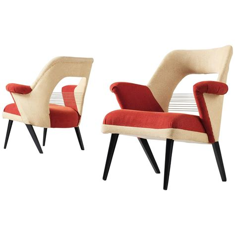 pair of colorful armchairs at 1stdibs