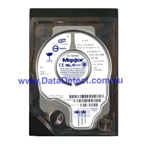 Hardisk Maxtor recovering data from maxtor disk drives