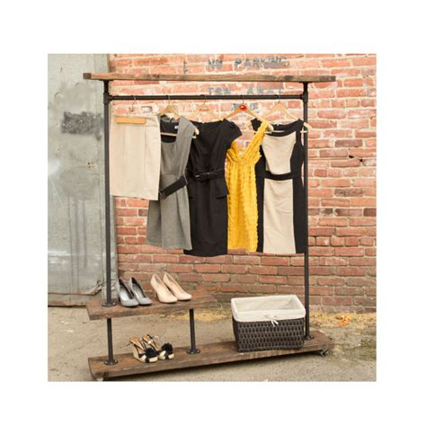 irh half shelf industrial clothes rack by maverickindustrial