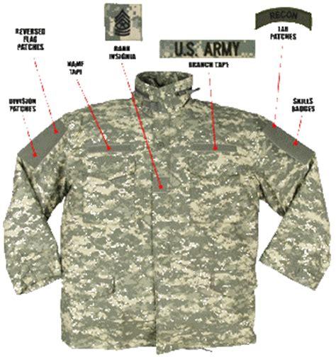 army uniform pattern name m65 field jacket acu digital camouflage usgi