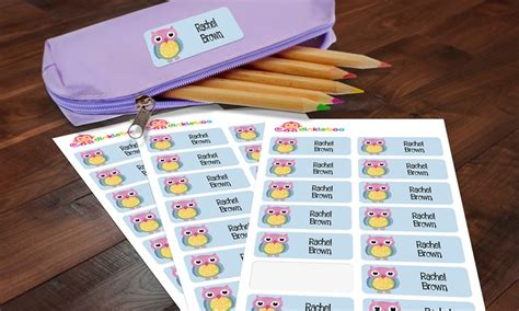 Namensetiketten Kinder by Up To 77 On Personalized Name Labels Groupon
