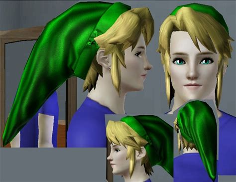 zelda link with black hair mod the sims link s hair from the legend of zelda