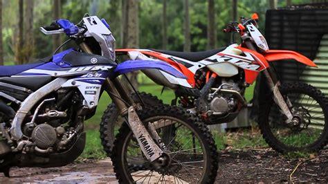 Ktm 250f For Sale 2015 Ktm 250excf Vs 2015 Yamaha Wr250f