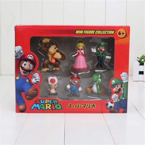 Figure Pajangan 1set 6pcs Bahan Pvc 5 2sets Lot 4 7cm Mario Figure Pvc Mario Bros