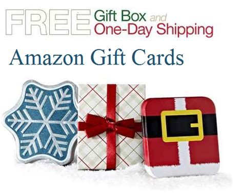 Amazon Physical Gift Card - amazon physical gift cards free gift box free 1 day shipping get it in time for