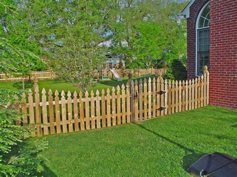 picket fence nashville fence and deck gothic wood fence photos