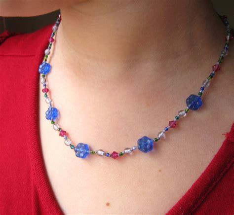 Handmade Childrens Jewellery - jewelry cobalt glass flower swarovski
