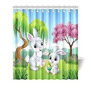 easter kitchen curtains com 100 polyester waterproof funny design happy