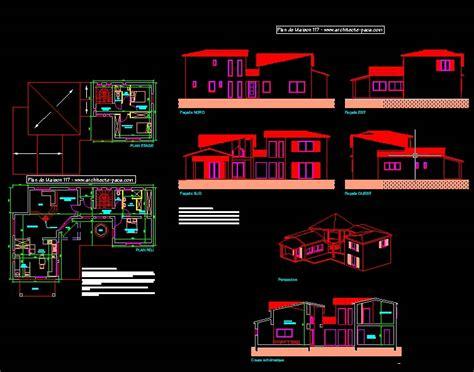 plan maison format dwg gratuit plan de maison autocad