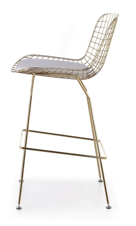 Gold Colored Stool by Bertoia Bar Stool In Gold Advancedinteriordesigns