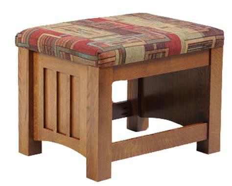Mission Style Ottoman Mission Seating Ottoman Ohio Hardwood Furniture