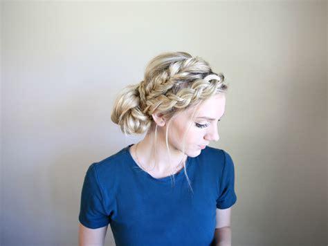 cute braided hair styles for mixed teens mixed braid bun cute girls hairstyles
