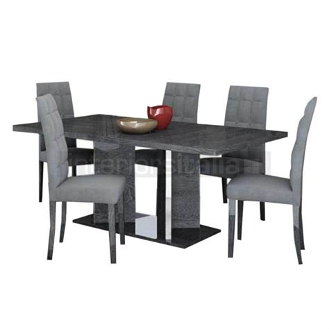 High Gloss Dining Table   Extending   Sarah Grey Birch   Sale