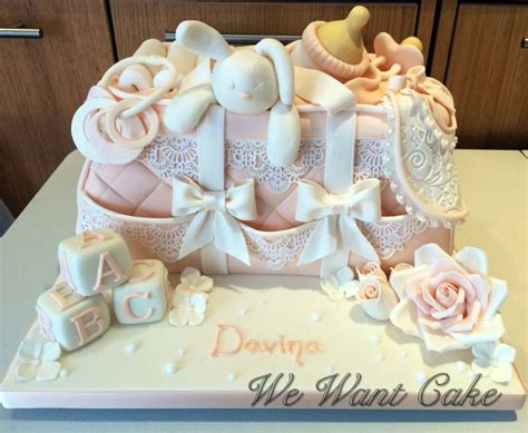 Baby Shower Hers by Christening Cakes We Make Cake