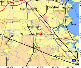 friendswood map friendswood tx profile population maps real