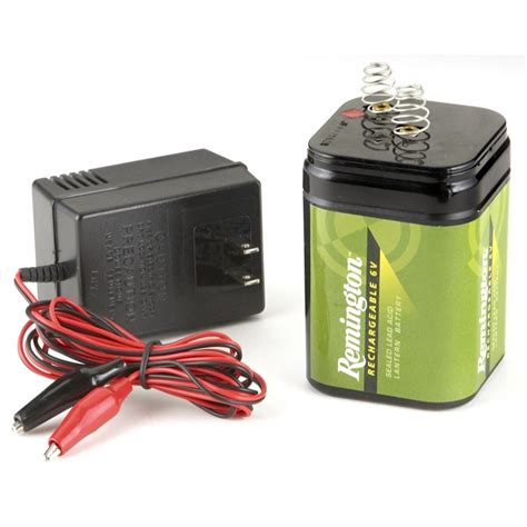 remington 174 rechargeable 6v battery with charger 206661