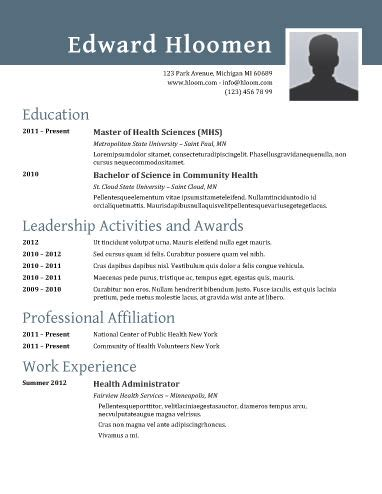 Resume With Photo Template by 89 Best Yet Free Resume Templates For Word