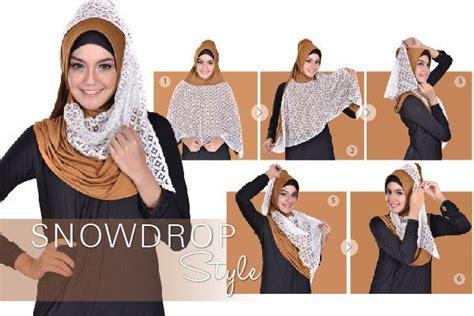 Jilbab Square Lace Katun Erow best 25 tutorial segitiga ideas on